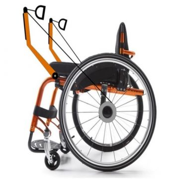 Manual wheelchair with innovative system of propulsion