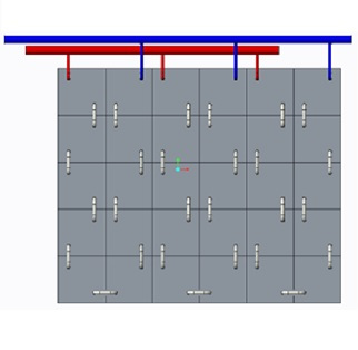 Concrete based thermal storage device